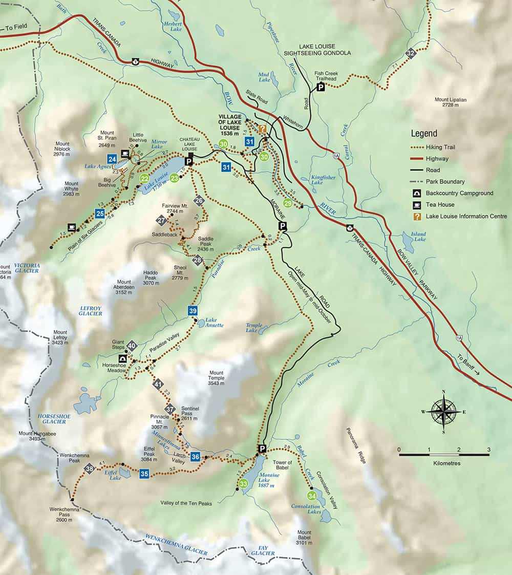 map of sentinel pass trail