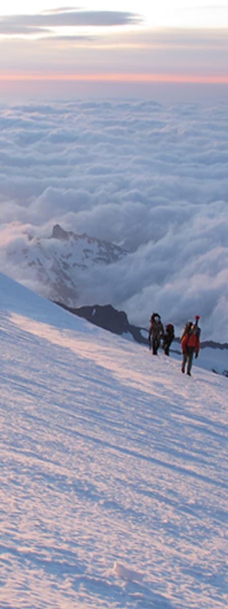 Nearing Summit Mt Rainier