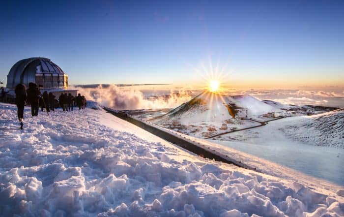 On top of Mauna Kea During Winter, Hawaii