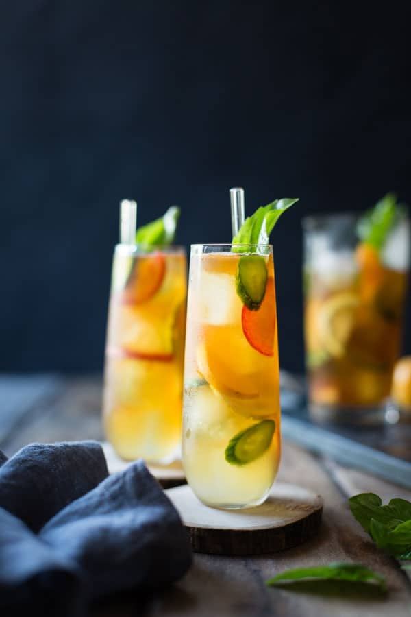 Basil Plum Pimms Cocktail Recipe