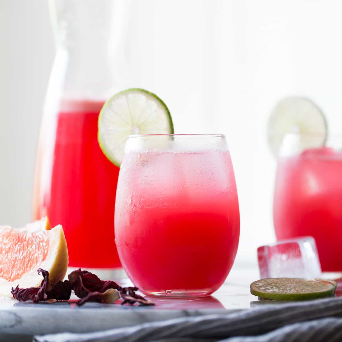 Hibiscus Ginger Palomas | Summer Cocktail Recipe